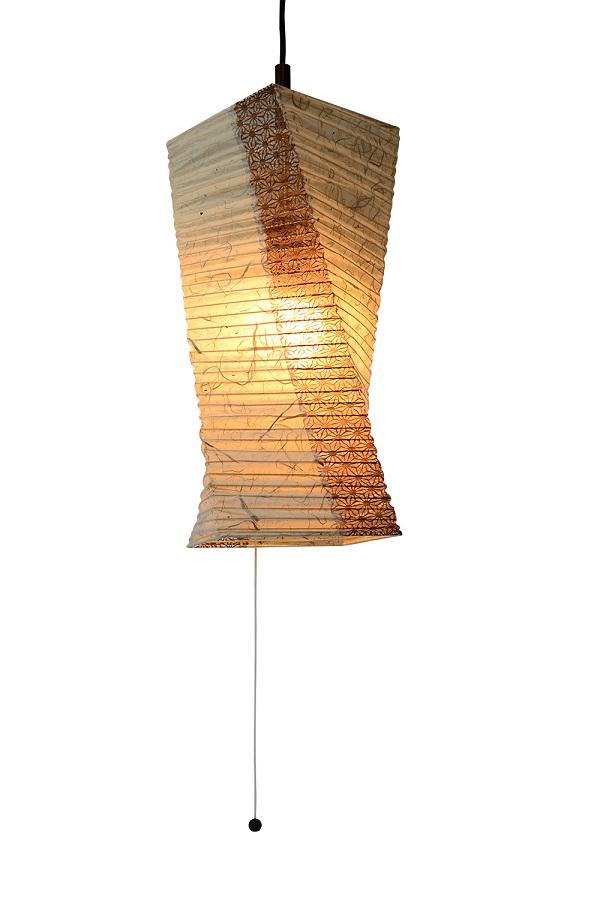 彩光デザイン PendantLamp SPN1-1004 黒雲龍×麻葉唐茶