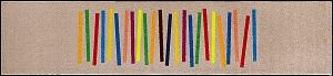 最前線の C011F 60×260cm Mixed wash+dry(ウォッシュアンドドライ)マット Mixed Stripes(ミックスストライプ) 60×260cm, TOO オンリーワンショップ:b6f69fd0 --- capela.eng.br