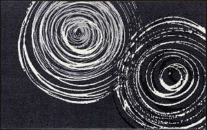 D017I wash+dry(ウォッシュアンドドライ)マット Swirl(スワール) 110×175cm