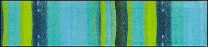 J012F wash+dry(ウォッシュアンドドライ)マット Medley acqua(メドレーアクア) 60×260cm