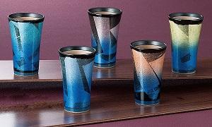 K5-1098 九谷焼 フリーカップセット 銀彩