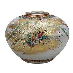 K5-1351 九谷焼 10号花瓶 鳳凰図