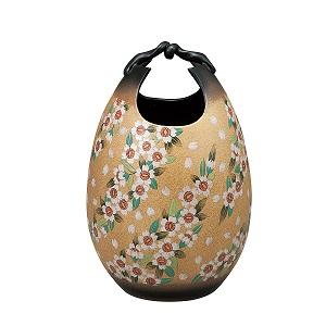 K5-1358 九谷焼 10号花瓶 桜舞