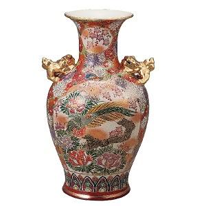 K5-1362 九谷焼 15号花瓶 割取花詰