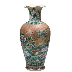 K5-1363 九谷焼 20号花瓶 本金鳳凰