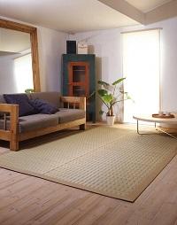 掛川織い草ラグ 梓(あずさ) 190×190cm