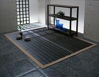紋織い草ラグ かすみ 190×190cm