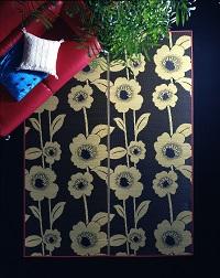 紋織い草ラグ フルール 190×250cm