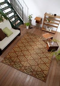 袋織い草ラグ ゲージ 190×200cm