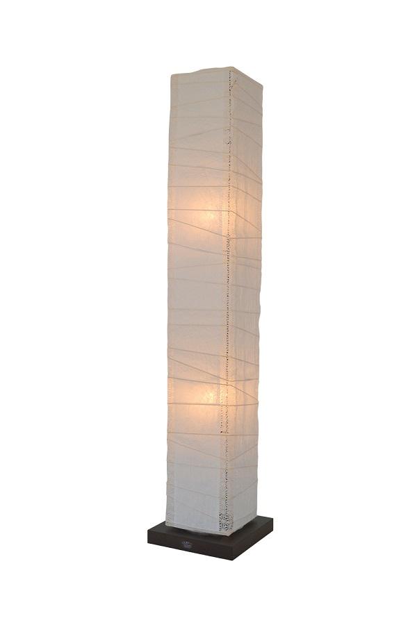 彩光デザイン FloorLamp B-120 揉み紙×(角)麻葉白