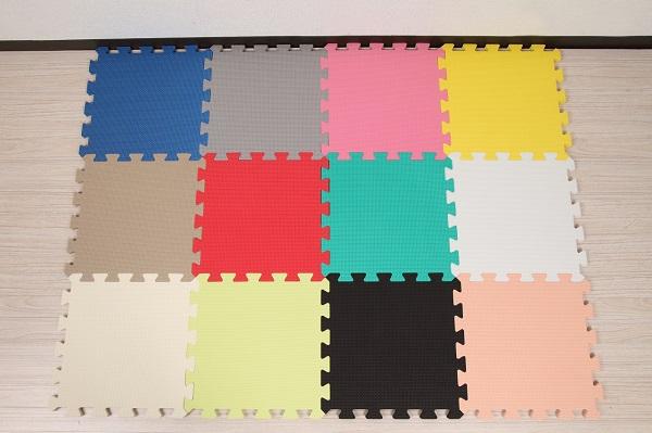 ユノックス EVAジョイントマット 30cm×30cm×1.4cm 12色×10枚 120枚セット