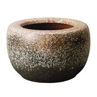 8057-06 信楽焼 白砂火鉢 13号
