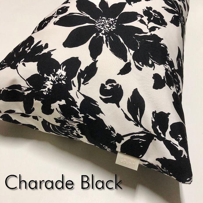 送料無料 おしゃれな日本製コットン100% Dサイズ 枕カバー シャレード B 花柄 W お気に入 人気急上昇 ブラック ピロケース 43cm×120cm