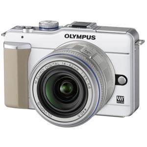 オリンパス【OLYMPUS】オリンパス・ペン Lite E-PL1 レンズキット ホワイト★【EPL1】