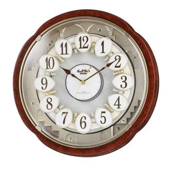 リズム時計工業【CITIZEN】電波からくり時計 スモールワールドコンベルS 4MN480RH23★【4MN480RH23】