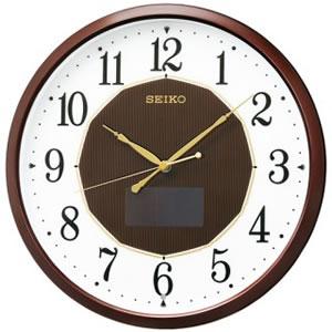 セイコー【SEIKO】ハイブリッドソーラー掛時計★壁掛け時計【SF241B】