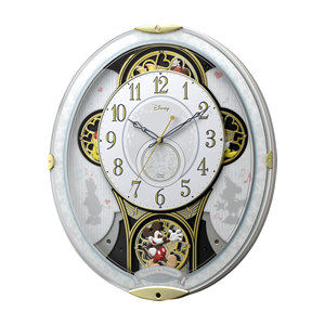 リズム時計工業【RHYTHM】電波からくり時計 ミッキー&フレンズ M509 ★【4MN509MC03】