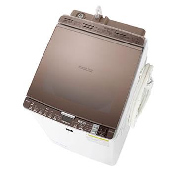 シャープ【SHARP】9kg タテ型洗濯乾燥機 ES-GX9A-T(ブラウン系)★【ES-GX9A】
