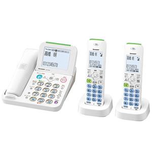 シャープ【SHARP】コードレス電話機(親機および子機2台) JD-AT85CW★【JDAT85CW】