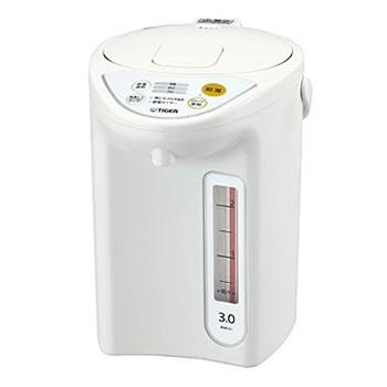 タイガー【TIGER】3.0L マイコン電動ポット カルキぬき、再沸とう PDR-G301-W(ホワイト)★【PDR-G301】