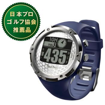 ショットナビ【腕時計型】GPSゴルフナビゲーションW1-FWネイビー★【ShotNavi-W1FW-NV】