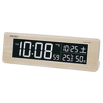 セイコー【SEIKO】交流式 電波デジタル目覚まし時計 DL210A★【LEDカラフル】