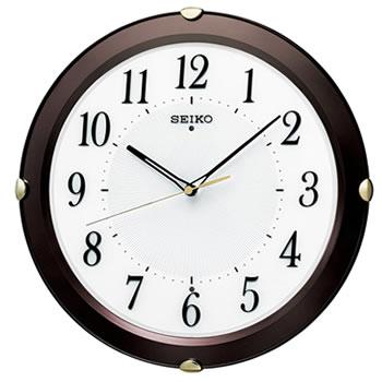 セイコー【SEIKO】電波クロック アナログ掛け時計 茶メタリック塗装 KX211B★【木枠】