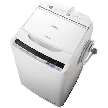 日立【HITACHI】洗濯8.0kg 全自動洗濯機 ビートウォッシュ BW-V80B-W(ホワイト)★【BWV80BW】