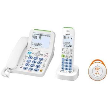 シャープ【SHARP】デジタルコードレス電話機 子機1台・緊急呼出ボタン1台 JD-AT82CE★【JDAT82CE】