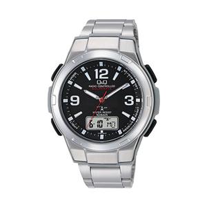 シチズン【Q&Q】ソーラー電源電波腕時計 ブラック MD08-205★【MD08205】