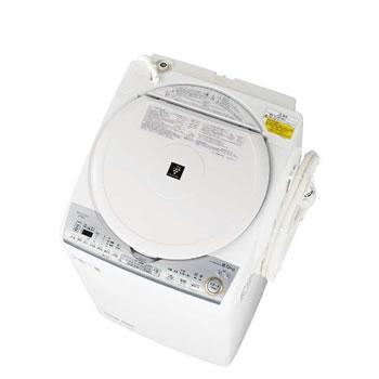 シャープ【SHARP】洗濯8.0kg 乾燥4.5kg タテ型洗濯乾燥機 ES-TX8C-W(ホワイト系)★【ESTX8CW】