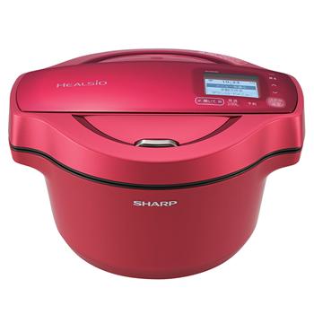 シャープ【SHARP】1.6L 水なし自動調理鍋 ヘルシオ ホットクック KN-HW16D-R(レッド系)★【KNHW16DR】