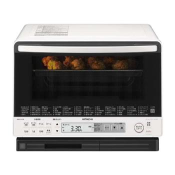 日立【HITACHO】31L 過熱水蒸気オーブンレンジ ヘルシーシェフ MRO-VS8-W(ホワイト)★【MROVS8W】