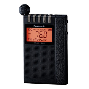 パナソニック【Panasonic】FM-AM 2バンドレシーバー ブラック RF-ND380R-K★【RFND380RK】