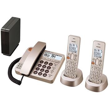 シャープ【SHARP】デジタルコードレス電話機 子機2台付き シャンパンゴールド JD-XG1CW-N★【JDXG1CWN】