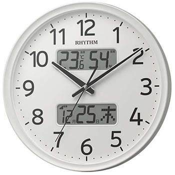 リズム時計工業【RHYTHM】 電波掛け時計 フィットウェーブリブA03(白) 8FYA03SR03★【8FYA03SR03】