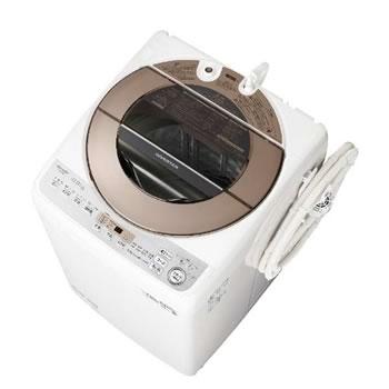 シャープ【SHARP】10kg 全自動洗濯機 ブラウン系 ES-GV10D-T★【ESGV10DT】