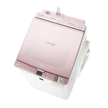 シャープ【代引・日時指定不可】洗濯8kg 乾燥4.5kg タテ型洗濯乾燥機 ピンク系 ES-PX8D-P★【ESPX8DP】