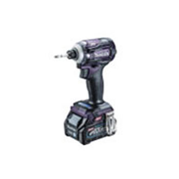 マキタ【makita】40V2.5Ah充電式インパクトドライバ 紫 TD001GDXAP★【電池2個・充電器・ケース付き】