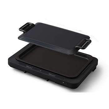 アイリスオーヤマ【キッチン家電】左右温調ホットプレート WHP-011-B(ブラック)★【WHP011B】