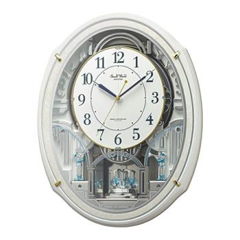 在庫商品は15:00までのご注文で当日出荷可能 リズム時計工業 驚きの価格が実現 RHYTHM 電波からくり時計 公式サイト 4MN553RH03 スモールワールドアルディN 48曲メロディ入り