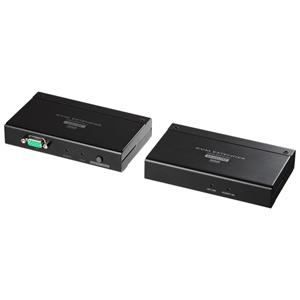 サンワサプライ【SanwaSupply】KVMエクステンダー(USB用・セットモデル)VGA-EXKVMU★【VGAEXKVMU】