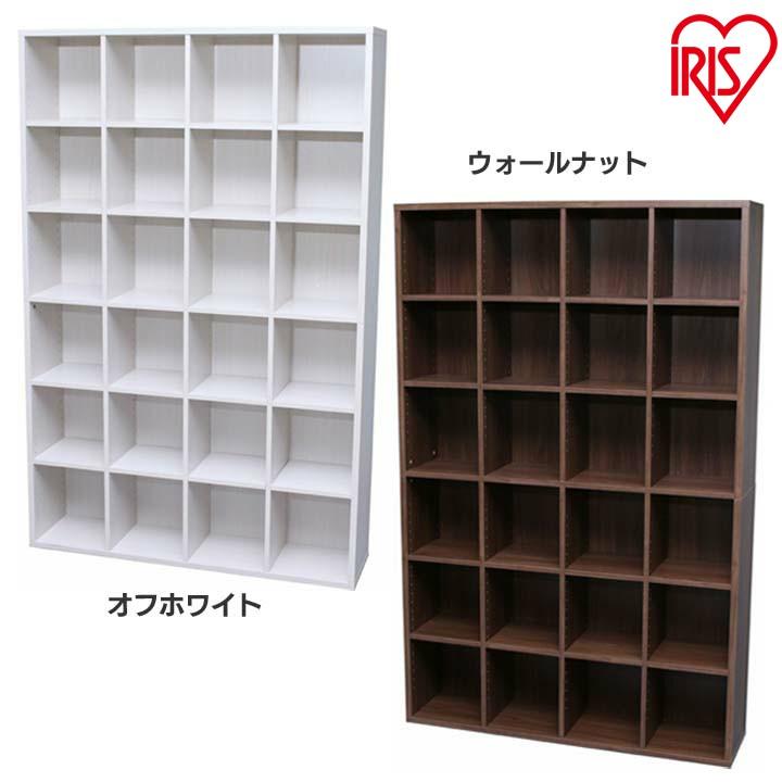 本棚 大容量 ブックシェルフ BKS-1812 送料無料 本棚 大容量 ブラウン シェルフ 木製 ラック おしゃれ 北欧 ディスプレイラック 飾り棚 オフホワイト ウォールナット アイリスオーヤマ
