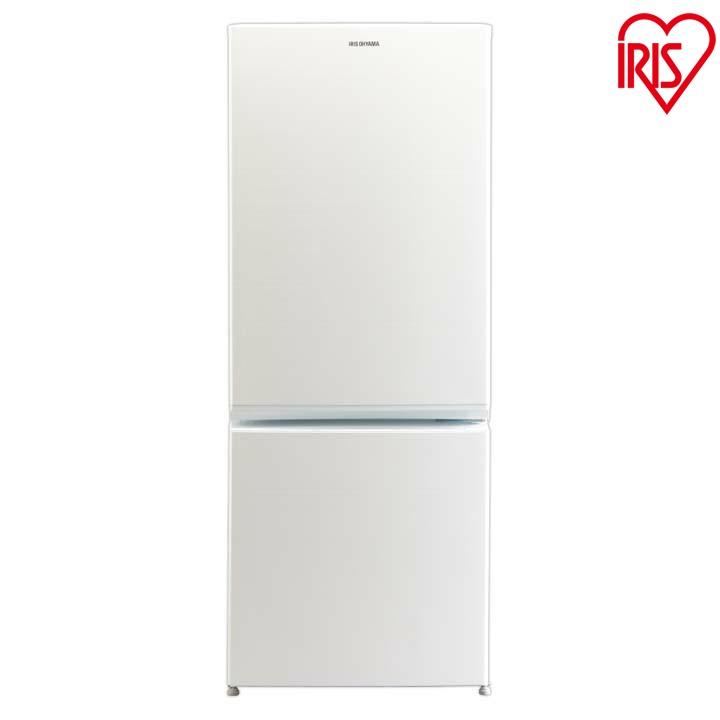 ノンフロン冷凍冷蔵庫 156L ホワイト AF156-WE送料無料 2ドア 右開き 冷凍庫 一人暮らし ひとり暮らし 単身 白 シンプル コンパクト 小型 省エネ 節電 アイリスオーヤマ  あす楽