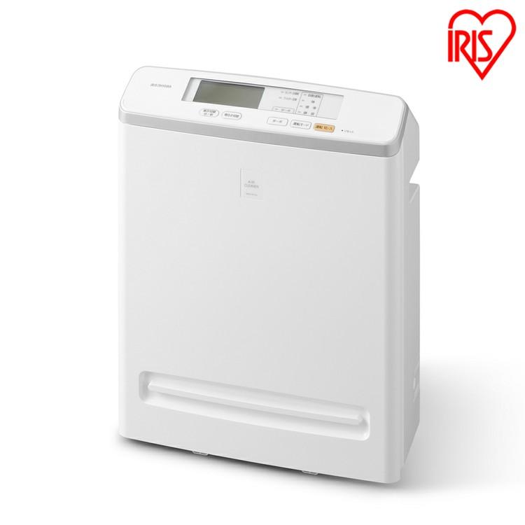 モニター付き空気清浄機 17畳 ホワイト MSAP-AC100送料無料 におい ほこり 花粉 ハウスダスト ウイルス 除去 空気清浄器 浄化 クリーン 活性炭 アレルギー アレルゲン 急速清浄 アイリスオーヤマ