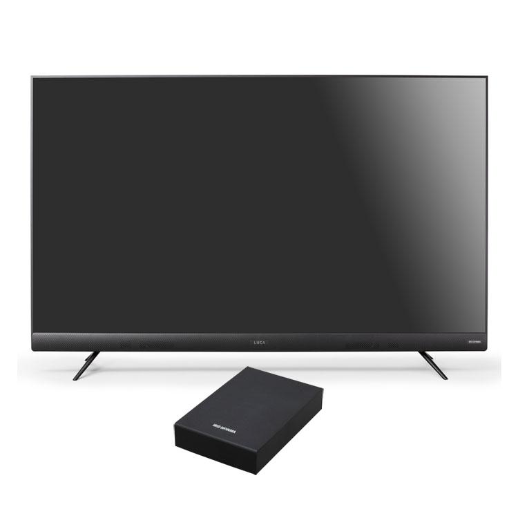 テレビ 55型 4Kテレビ フロントスピーカー 外付けHDDセット品送料無料 テレビ HDD セット TV 4K フロントスピーカー 55型 外付け ハードディスク アイリスオーヤマ
