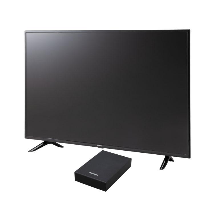 テレビ Fiona 50v 外付けHDDセット品送料無料 テレビ HDD セット TV 4K 49V 50型 外付け ハードディスク アイリスオーヤマ