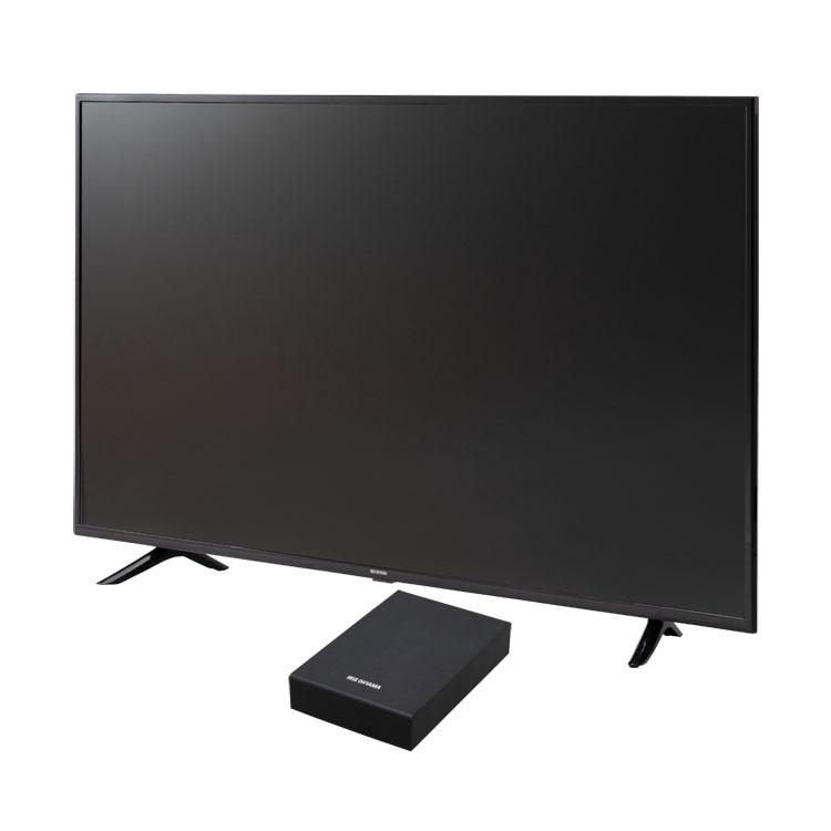 テレビ Fiona 55v 外付けHDDセット品送料無料 テレビ HDD セット TV 4K 55V 55型 外付け ハードディスク アイリスオーヤマ