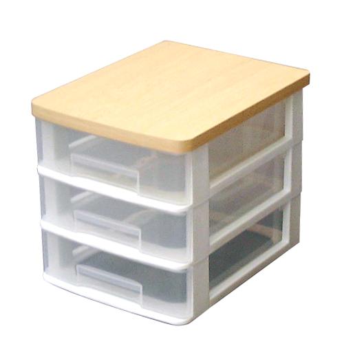 \税込み3 980円以上で送料無料 《組立不要》 ウッドトップテーブルチェストET-W430 収納ボックス ホワイトアイリスオーヤマ マーケット 収納ケース 引き出し 送料無料限定セール中