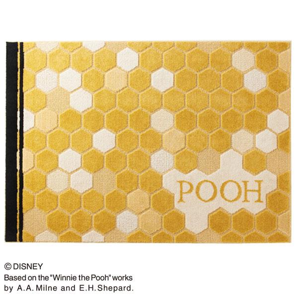 【送料無料】POOH/Honey RUG DRP-1032 140×200 ラグ カーペット ディズニー プーさん 日本製 防ダニ 耐熱加工 【TD】【スミノエ】